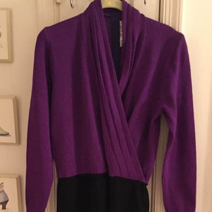 St. John dress purple & black - Incredible!